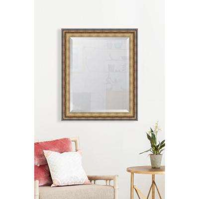 29 in. x 35 in. Framed Black and Soft Gold Radiant Swan Mirror