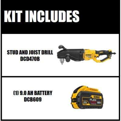 FLEXVOLT 60-Volt MAX Lithium-Ion Cordless 1/2 in. Stud and Joist Drill (Tool-Only) with FLEXVOLT Li-Ion Battery Pack
