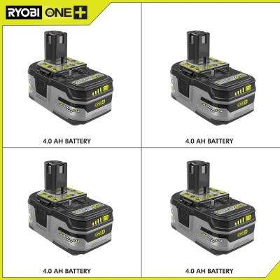 18-Volt ONE+ Lithium-Ion 4.0 Ah LITHIUM+ HP High Capacity Battery 4-Pack