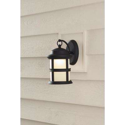 6-Watt Bronze Outdoor Integrated LED Wall Lantern Sconce (2-Pack)
