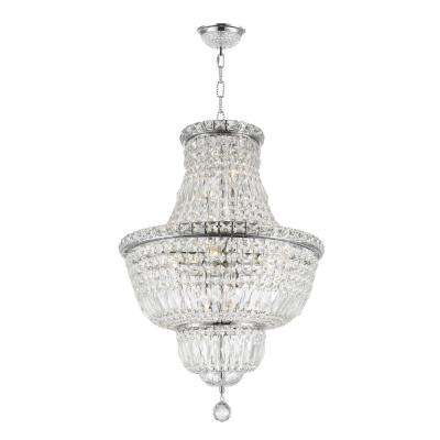 Empire 12-Light Chrome and Clear Crystal Chandelier