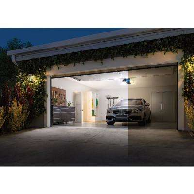 1-1/4 HP Equivalent Corner to Corner LED Lighting Ultra-Quiet Belt Drive Smart Garage Door Opener with Battery Backup