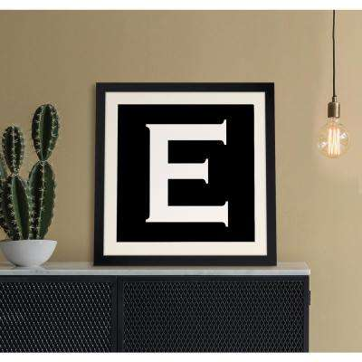 "20 in. x 20 in. ""E"" Iconic Reverse Monogram"" Framed Giclee Print Wall Art"