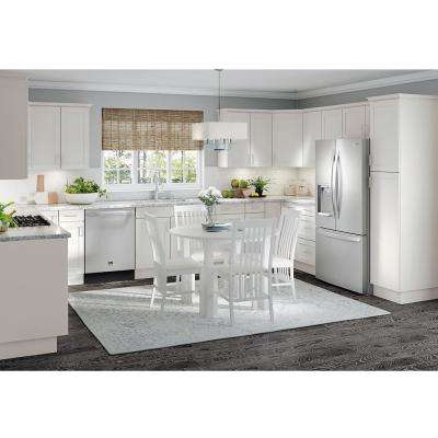 Cambridge Assembled 9 in. x 34.5 in. x 24 in. All Plywood Base Cabinet in White
