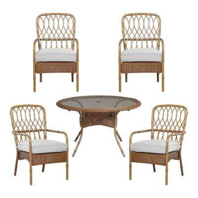 Clairborne 5-Piece Patio Dining Set with Cushion Insert (Slipcovers Sold Separately)