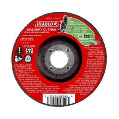 4 in. x 1/8 in. x 5/8 in. Masonry Cutting Disc with Depressed Center (10-Pack)