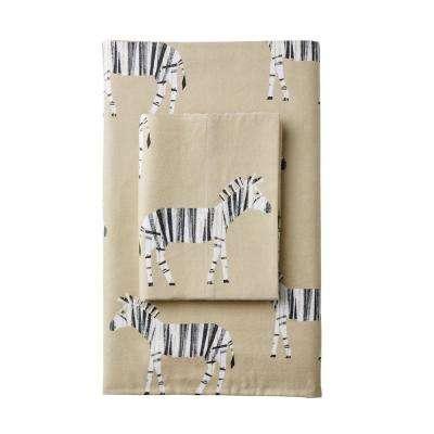 Zebra Herd Flannel Pillowcase (Set of 2)