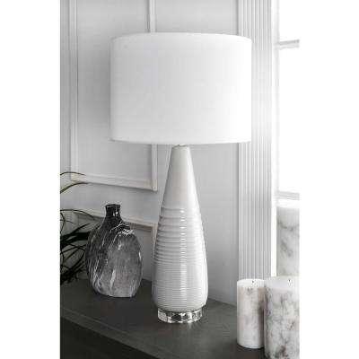 Iris 29 in. Grey Table Lamp