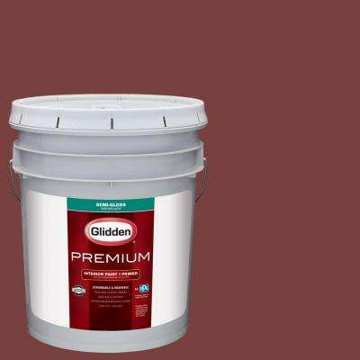 5 gal. #HDGR65 California Claret Semi-Gloss Interior Paint with Primer