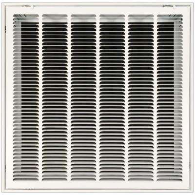 24 in. x 24 in. Return Air Vent Filter Grille with Fixed Blades, White