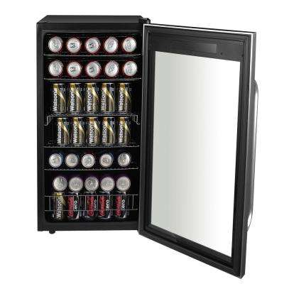 Freestanding 19 in. 121 (12 oz.) Can Cooler with Digital Control and Internal Fan