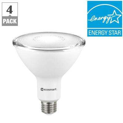 120W Equivalent Bright White PAR38 Dimmable LED Flood Light Bulb (4-Pack)
