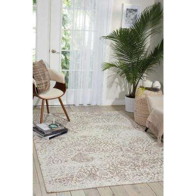 Damask Ivory 8 ft. x 10 ft. Area Rug