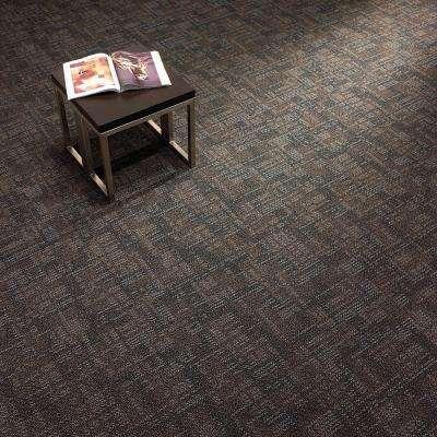 Carnegie Graphite Loop 19.7 in. x 19.7 in. Commercial Carpet Tile (20 Tiles/Case)