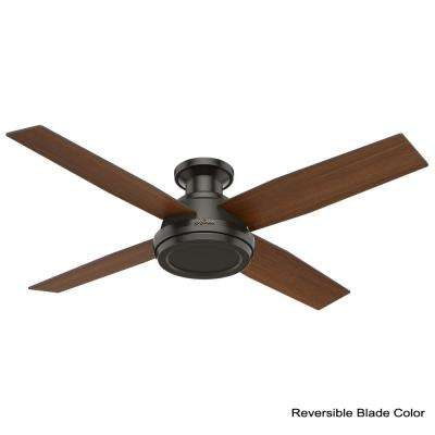 Dempsey 52 in. Low Profile No Light Indoor Noble Bronze Ceiling Fan