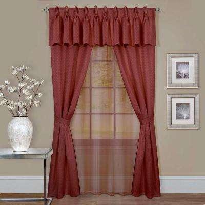 Sheer Window Curtain Set