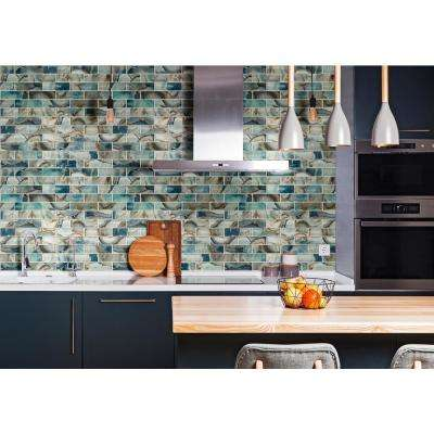 Night Sky Subway 11.81 in. x 11.81 in. x 8mm Textured Glass Mesh-Mounted Mosaic Tile ( 9.7 sq. ft. / case )