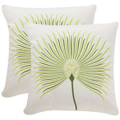Leste Verte Soleil Square Outdoor Throw Pillow (Pack of 2)