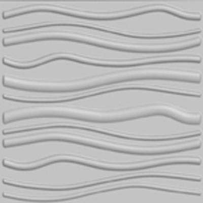 32 sq. ft. Plant Fiber Wainscot Wave Wall Panel