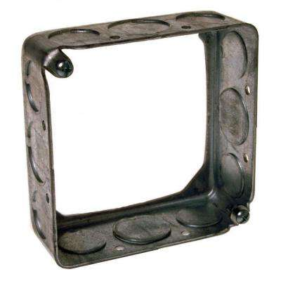4 in. Square Drawn Extension Ring 1-1/2 in. Deep with 1/2 and 3/4 in. KO's (20-Pack)