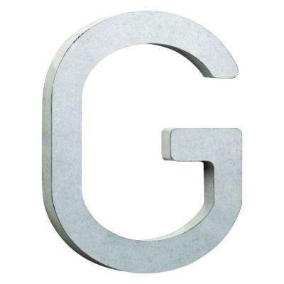 8 in. Vintage Style Galvanized Steel Letter G