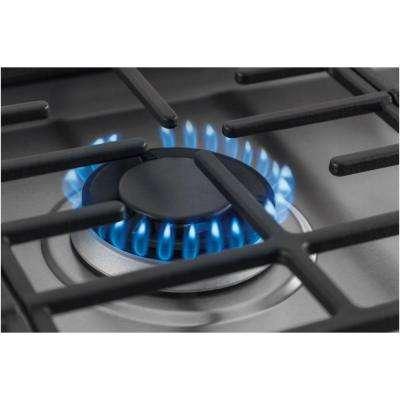 30 in. Deep Recessed Gas Cooktop in Stainless Steel with 5-Burners including Min-2-Max Burner