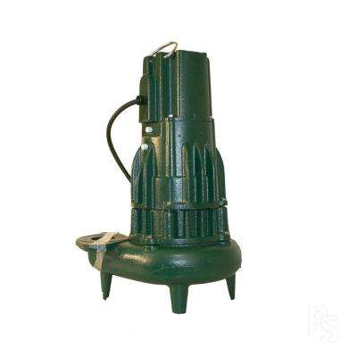 Waste-Mate 2 in. Discharge E282 .5 HP Submersible Sewage or Effluent or Dewatering Non-Automatic Pump-DISCONTINUED