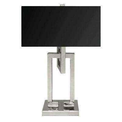 Meander 25 in. Polished Steel Table Lamp