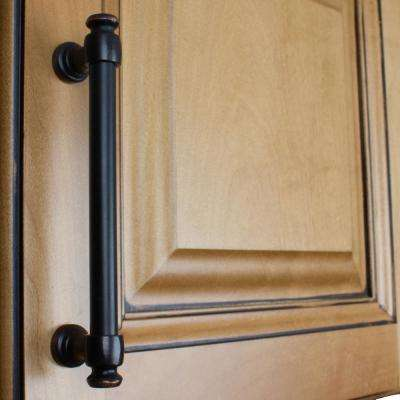 5 in. Center-to-Center Oil Rubbed Bronze Modern Solid Steel Euro Cabinet Bar Pull (10-Pack)