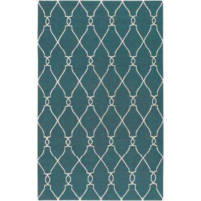 Jill Rosenwald Turquoise 2 ft. x 3 ft. Flatweave Accent Rug