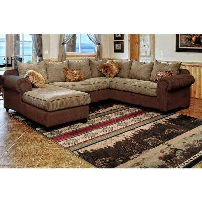 Woodside Woodland Meadows Green 2 ft. x 7 ft. Area Rug