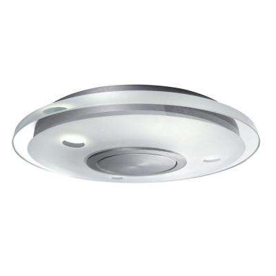 Vidro 3-Light Brushed Nickel LED Ceiling Fixture