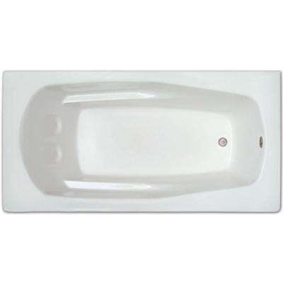 5-1/2 ft. Acrylic Rectangular Drop-in Non-Whirlpool Bathtub in White