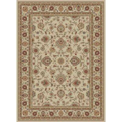 Elegance Ivory 7 ft. 6 in. x 9 ft. 10 in. Traditional Area Rug