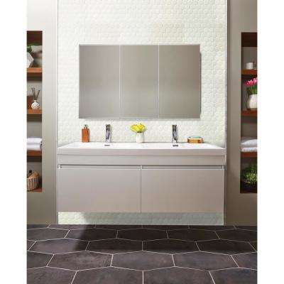 White Hexagon 11 in. x 13 in. x 6mm Porcelain Mesh-Mounted Mosaic Tile (19 sq. ft. / case)
