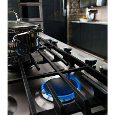 30 in. Gas Cooktop in Stainless Steel with 5 Burners Including Professional Dual Ring Burner