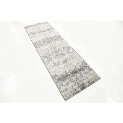 Metro Glaze Light Gray 2' 0 x 6' 7 Runner Rug