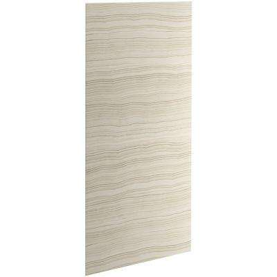 Choreograph 0.3125 in. x 42 in. x 96 in. 1-Piece Shower Wall Panel in VeinCut Biscuit for 96 in. Showers