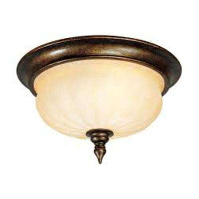 Providence 3-Light Ceiling Moroccan Gold Incandescent Flush Mount