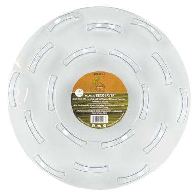 10 in. Deck Saver Recycled Plastic Saucer