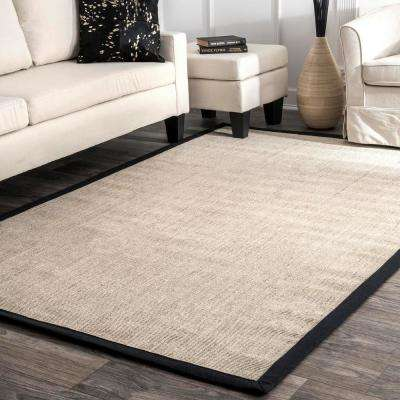 Bordered Maryjo Sisal Black 3 ft. x 5 ft. Area Rug