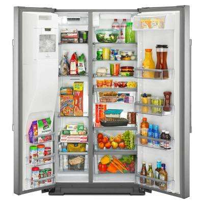 26 cu. ft. Side by Side Refrigerator in Fingerprint Resistant Stainless Steel