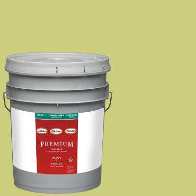 5-gal. #HDGG14 Granny Smith Apple Semi-Gloss Latex Interior Paint with Primer