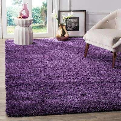 Milan Shag Purple 6 ft. x 9 ft. Area Rug