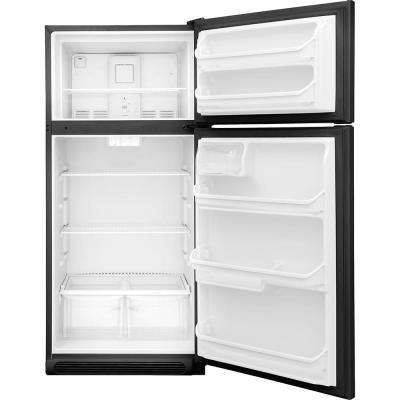 18 cu. ft. Top Freezer Refrigerator in Black