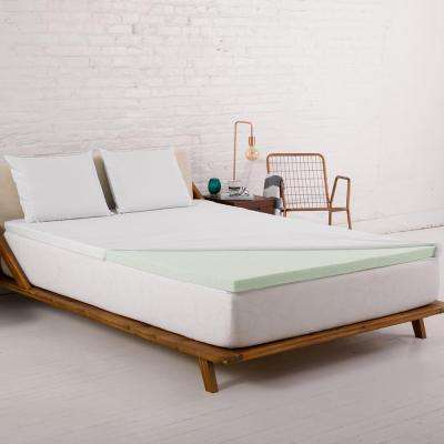 Twin XL 2 in. Ventilated Temperature-Regulating Gel Memory Foam Mattress Topper with Cover