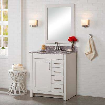Westcourt 30 in. W x 21 in. D Bathroom Vanity Cabinet Only in Cream
