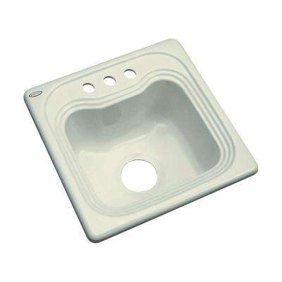 Oxford Drop-In Acrylic 16 in. 3-Hole Single Bowl Entertainment Sink in Jersey Cream