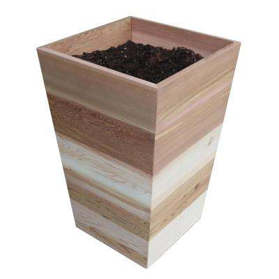 16 in. x 16 in. x 25.5 in. Patio Wood Planter