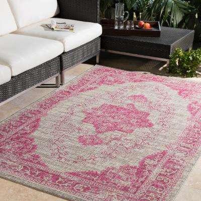 Cranleigh Bright Pink 5 ft. x 8 ft. Indoor/Outdoor Area Rug